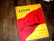 Luicha fandango pour piano 1925 André Faury