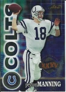 Peyton Manning Indianapolis Colts 2001 Topps Finest Super Bowl XXXV Cards