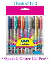 10 Pack of Gel Pens Extra Sparkle Glitter pens for Home School Office Best Price