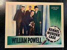 THE KENNEL MURDER CASE 1942 ORIGINAL LOBBY CARD - WILLIAM POWELL, MARY ASTOR