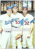 Brooklyn Dodgers- Johnny Podres, Don Drysdale, Sandy Koufax -Polo Grounds