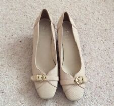 Ladies K By Clarks Shoes 'Alisa Cleo' Nude Leather - UK 7 E Fitting - Brand New