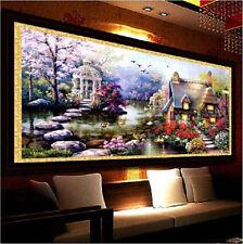YGS-32 DIY 5D Diamond Mosaic Landscapes Garden lodge Full Diamond Painting Cross