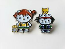 Pokemon (Ash Misty Pikachu) X Hello Kitty Metal Enamel Pin Nintendo - Collector