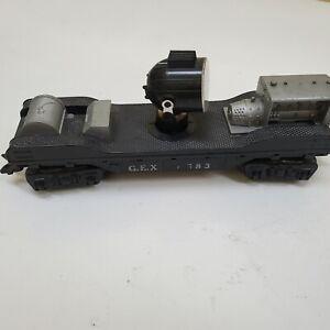 MARX G.E.X. 4583 Rotating Searchlight Car. Good shape.   .99 NO RESERVE!