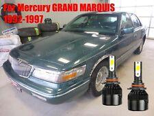 Led For Grand Marquis 1992 1997 Headlight Kit 9006 Hb4 6000k Cree Bulbs Low Beam