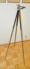 """Antique Telescoping All Metal Camera Tripod. Legs extend 14"""" to 48"""""""