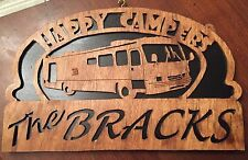 Personalize Wooden Class A Rv sign - Happy Campers (#98)