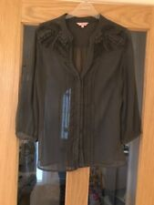 Per Una Size 10 Grey Shear  Long Sleeved Top