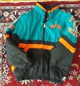 Miami Dolphins Vintage Starter Embroidered Jacket Insulated Half Zip Size Medium