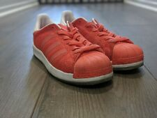 ADIDAS Superstar Bounce J Big Kids sz 4 Coral Orange White Shell toe Girls
