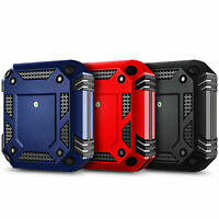 AirPods Case Heavy Duty Armor Cover + Keychain Clip For Apple AirPods 1/2 & Pro