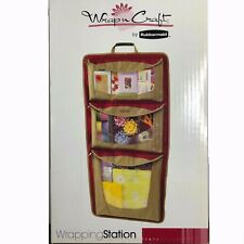 Rubbermaid Hanging All-in-one Gift Wrapping Station Christmas Paper Organizer