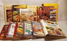 Huge Lot of 12 Cookbooks-Southern Living Rival Nestle Spiral Tex Mex Slow Cooker