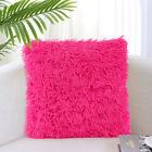 43cm X 43cm Fluffy Faux Soft Plush Pillow Case Cover Cushion Home Bed Sofa Decor