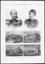 1885 Antique Print ROYAL WEDDING Princess Beatrice Windsor Castle Balmoral (177)