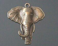 1 Large Antique Bronze Animal Lucky Elephant Talisman Charm Pendant 84mm AB18