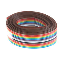 Dupont Line 2M 1.27mm Pitch 16 Pin Flat IDC Ribbon Extension Cable Wire MW