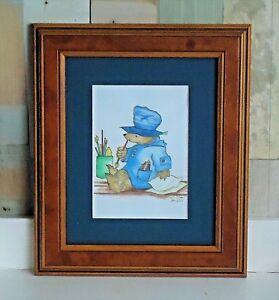 Lovely Framed Paddington Bear Picture *Original Pencil *Signed L Shaw 2000