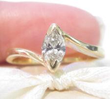Valuation$3899 Genuine 0.50ct H/SI  Diamond Ring 18K Yellow Gold