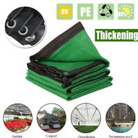 Sun Shade Sail Awning Canopy Cloth Cover Outdoor Garden 6 Stitches 80%  ]