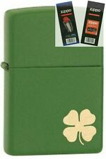 Zippo 21032 shamrock deere green Lighter with *FLINT & WICK GIFT SET*