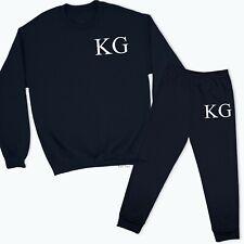Personalised Initial Sweatshirt Sweatpants Tracksuit Lounge Wear Kids Childs TR2