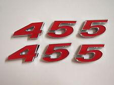 PONTIAC 455 ENGINE ID FENDER HOOD SCOOP QUARTER TRUNK EMBLEMS - RED