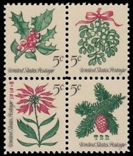 1254a-57a 1257a 1257c Christmas 1964 Experimental Tagged Block of 4 MNH -Buy Now
