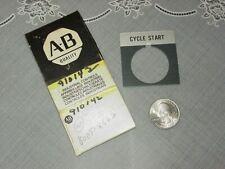 Allen Bradley 800t X562 Legend Plate Cycle Start Aluminum Standard Plate New