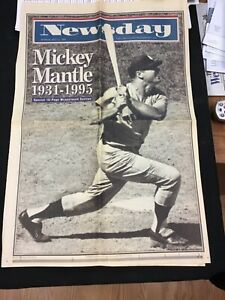 1995 Newsday Mickey Mantle Special 16 Page Spread August 14th