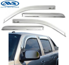 AVS 684355 Chrome Tape-On Window Ventvisors 4-Piece 2001-2007 Chevy Avalanche