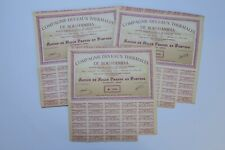 COMPAGNIE DES EAUX THERMALES DE BOU HANIFIA ACTION 1000 FRANCS 1950 X 67 ACTIONS