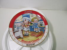 """Danbury Mint Campbell Kids Broccoli Cheese Soup 8"""" Collectible Plate 1994 hd1396"""