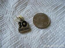 Black Enamel Silver Tone Metal Number 30 Something Charm