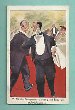 LAWSON WOOD 1920'S POSTCARD HONEYMOON IS OVER BRIDE HAS ORDERED ONIONS!