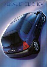 Renault Clio 1.6 16v 1999 UK Market Foldout Sales Brochure