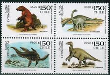 Chile 2000 #1988-91 Dinosaurs Extinct Animals MNH
