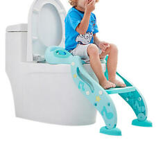 Trainer Toilet Potty Seat Chair Kids Toddler With Ladder Step Up Training Stool