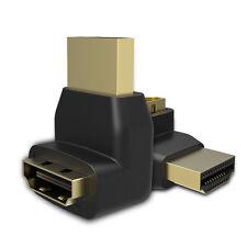 90°HDMI Stecker auf HDMI Buchse Winkeladapter Konverter Für 3D HDTV 1080p LCD