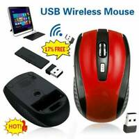 2.4GHz Cordless Wireless Optical Mouse Mice Laptop PC Computer+USB Receiver