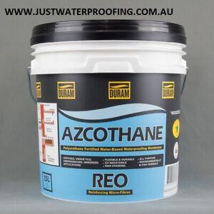 DURAM AZCOTHANE REO UV WATER BASED POLYURETHANE 15L NEW WATERPROOFING MEMBRANE