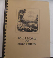 Government History Politics Poll Records Meigs County Voting Register Ohio 1985