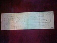 FOURNIER RF-4 CONTROL LINE STUNT MODEL PLAN BY K BURTON
