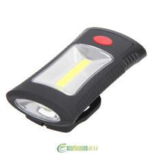 COB LED Work Light Magnetic Hook Hanging Camping Lamp Flashlight 2 Modes Torch