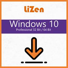 Microsoft Windows 10 pro key 32 & 64 bit versión completa Professional clave