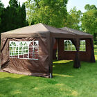 Outsunny 3m x 6m Pop Up Gazebo Party Tent Canopy Marquee with Storage Bag Coffee