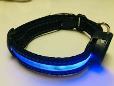 LED LIGHT DOG COLLAR USB RECHARGEABLE SAFETY BRIGHT COLORS PREMIUM QUALITY