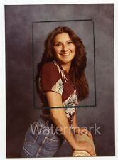 1980s  photo  Studio Portrait  young lady in designer jeans  crop marks