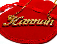 "Name Necklace ""HANNAH"" - 18ct Gold Plated - Christmas Crystals Jewellery Gifts"